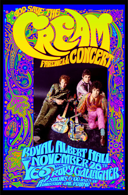 Bob Masse's 60's rock and roll art and concert posters