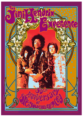 Jimi Hendrix Experience 50th anniversary poster